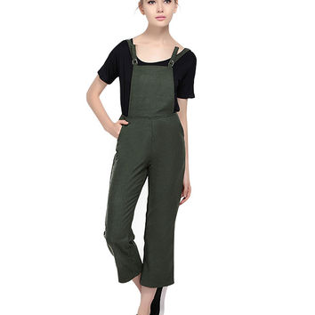 Cropped Pocket Detail Overall