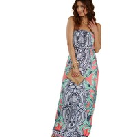 Coral Maxi-mum Fun Dress