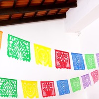5 Mayo Large Plastic Mexican Banner 16 Feet Long, Fiesta Decoration, Cinco de Mayo, B274