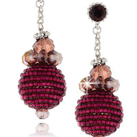 VANITY HER RAHEL Crystal Drop Earrings - ACCESSORIES | JEWELRY | Earrings | Pierced | PRET-A-BEAUTE.COM