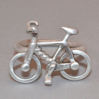 Bicycle Fashion Ring made of Sterling Silver 925 Cool Geek Rings Statement Jewelry Bicycle Lover Fans Silver Bicycle Jewellery