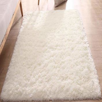 Solid Plush Bed Room Rug