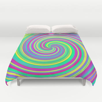 Psychedelic Swirl Duvet Cover by Moonshine Paradise