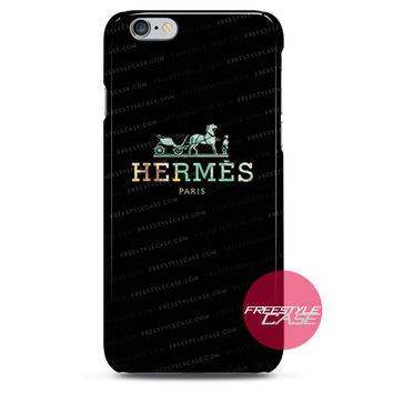 Hermes Paris Logo Black iPhone Case 3, 4, 5, 6 Cover