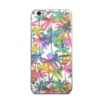 Palm Trees Collage iPhone 4 4s 5 5s 5C 6 6s 6 Plus 6s Plus 7 & 7 Plus Case