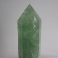 Green Fluorite Crystal Point