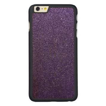 Cool Awesome Purple Glitter Carved® Maple iPhone 6 Plus Case
