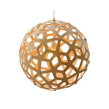 David Trubridge Natural Coral Bamboo Pendant Light