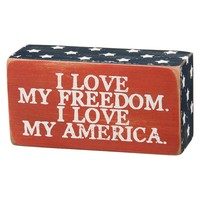 ''My America'' Wooden Box Sign Art