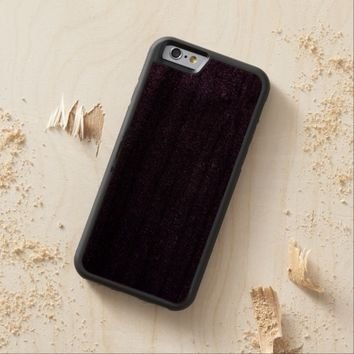 Cool Awesome Purple Glitter Carved® Walnut iPhone 6 Bumper Case