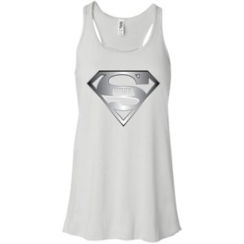 Men's Super Uncle T-Shirt is the Best Tee Shirt From Niece Nephew-01 B8800 Bella + Canvas Flowy Racerback Tank