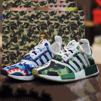 Fashion Online Adidas X Bape Nmd Fashion Flats Sport Shoes Running Sneakers G-csxy