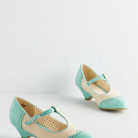 Vintage Inspired Care to Dance? Heel in Turquoise