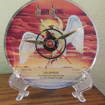 LED ZEPPELIN CD Desk Clock (The Song Remains The Same) - Stand Included