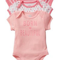 "Old Navy ""Born Beautiful"" Bodysuit 3 Packs For Baby"