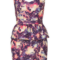 Petite Starburst Peplum Dress - New In This Week  - New In