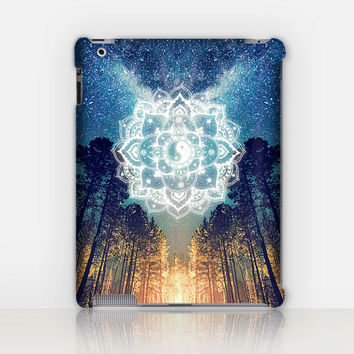 Fire-Mandala iPad Case For - iPad 2, iPad 3, iPad 4 and iPad Mini, Fine Art Hard Case