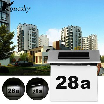 Konesky Outdoor Lighting Doorplate Solar Lamp Light-operated Led Billboard Lamp of Outdoor House Number Solar Apartment Number