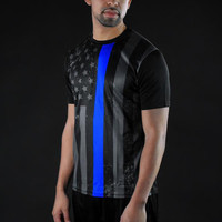 Tactical Thin Blue Line quick-dry jersey