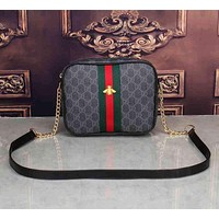 Gucci Women Leather Zipper Shopping Crossbody Shoulder Bag Satchel