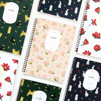 Lovable spiral bound lined notebook