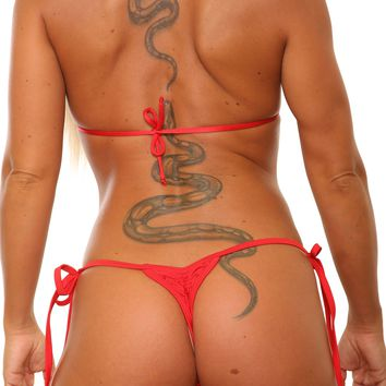Low Rise Tie Side Scrunch Thong Stripper Outfits