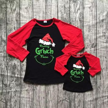 Mommy & Me Unisex Resting Grinch Face Christmas Shirts! Limited Stock & Ships Fast! Semi RTS