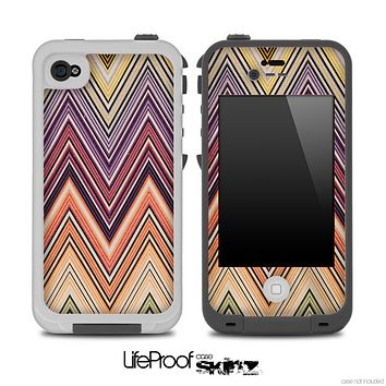 Vintage Colorful Chevron V2 Pattern for the iPhone 5 or 4/4s LifeProof Case
