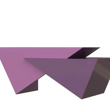 LACQUERED WRITING DESK TRIANGLES | PIERRE CARDIN - FORME