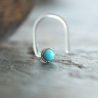 2mm Turquoise Nose Stud