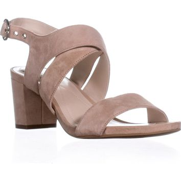 A35 Regann Block-Heel Sandals, Blush, 9 US