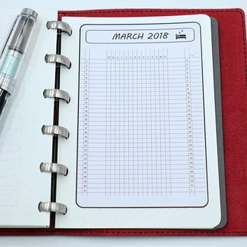 bullet journal monthly sleep tracker | on sticker paper |  set of 12 months |  sticker habit tracker | for A6 size