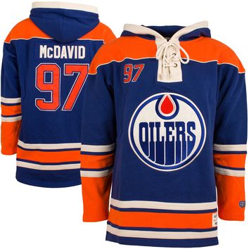 Edmonton Oilers Connor McDavid Heavyweight Jersey Lacer Hoodie