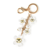 White Daisies and Chains Key Ring