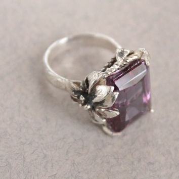 Ring Sterling Silver Color Change Alexandrite