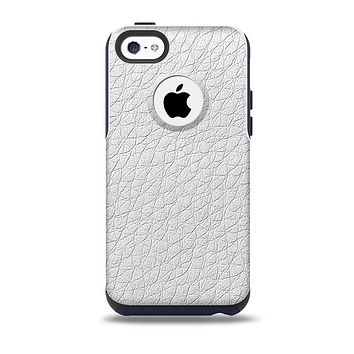 White Leather Texture Skin for the iPhone 5c OtterBox Commuter Case