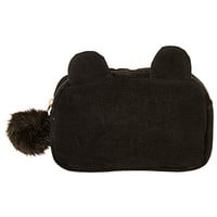 Bear Makeup Bag - Black