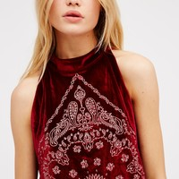 Free People Bandana Bling Tank