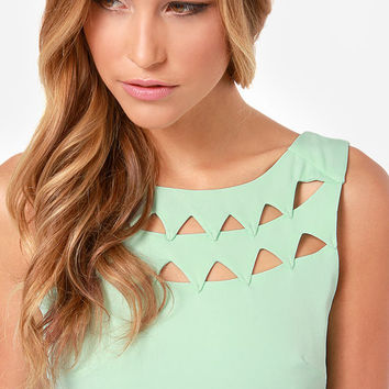 Flirting with Danger Cutout Mint Dress