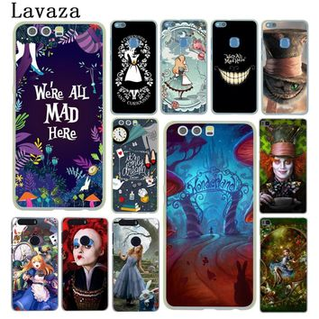 Lavaza Alice in Wonderland cat Hard Phone Case for Huawei P20 P10 P8 P9 Lite Plus 2015 2016 2017 P20 Pro P smart Shell Cover