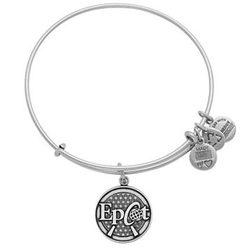 Disney Parks Epcot Charm Bangle Bracelet Alex & Ani Silver New With Tags