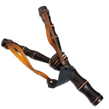 Wood Bamboo Sling Shot Slingshot Catapult Men Women Toys Bauble Hunting Tools