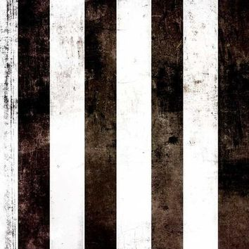 PRINTED BLACK WHITE STRIPES BACKDROP Platinum Cloth Backdrop - 6x8 - LCPC02PC1808 - LAST CALL
