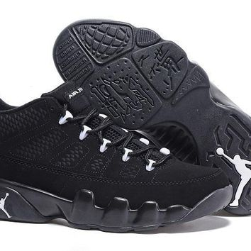 Nike Air Jordan 9 Retro Low Black/White AJ9 Cheap Sale JD 9 Discount Men Sports Basket