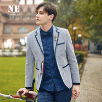 Stylish England Style Stripes Slim Blazer Jacket [7951258435]