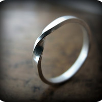 READY TO SHIP - Moebius ring - recycled sterling silver ring (size 6.5)