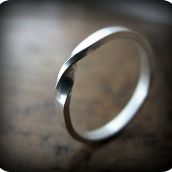Moebius ring - recycled sterling silver ring