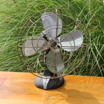 Vintage Black Desk Fan by Eskimo - Model 4D