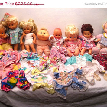 Doll, Clothes, Lot, Blonde, Baby, All Gone, Cabbage Patch Kid, Tiny Tears, Lovee, Gigo, Cititoy, Blue Eyes, Outfit, Shirt, Top, Collector, A