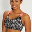 sport bra in ethnic print with neon straps
